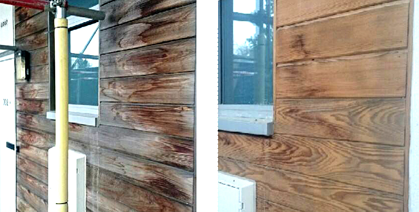 Exterior Wood Stain Removal